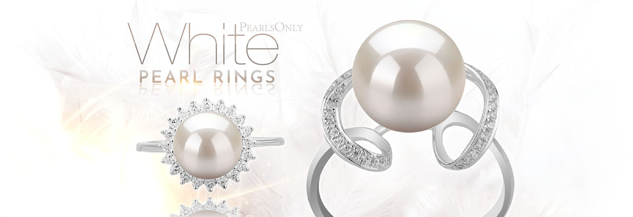 Landing banner for White Pearl Rings