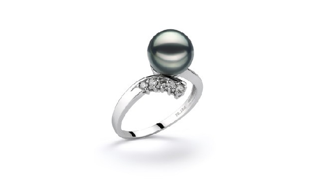 View Black Japanese Akoya Pearl Rings collection
