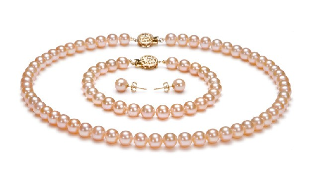 View Pink Freshwater Pearl Set collection
