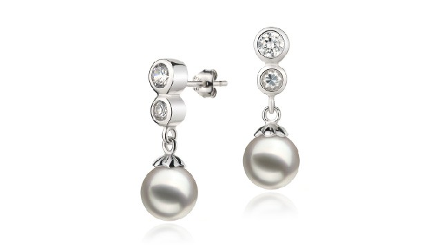 View White Japanese Akoya Earrings collection